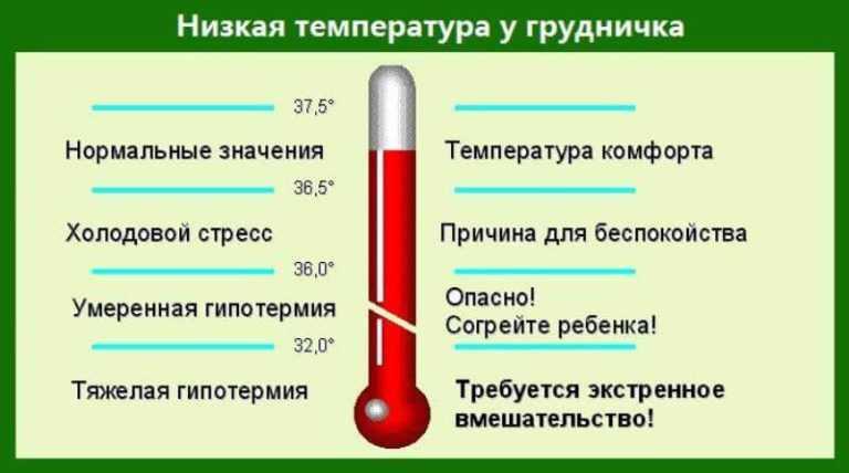 Нормальная температура у грудничков - какими могут быть отклонения