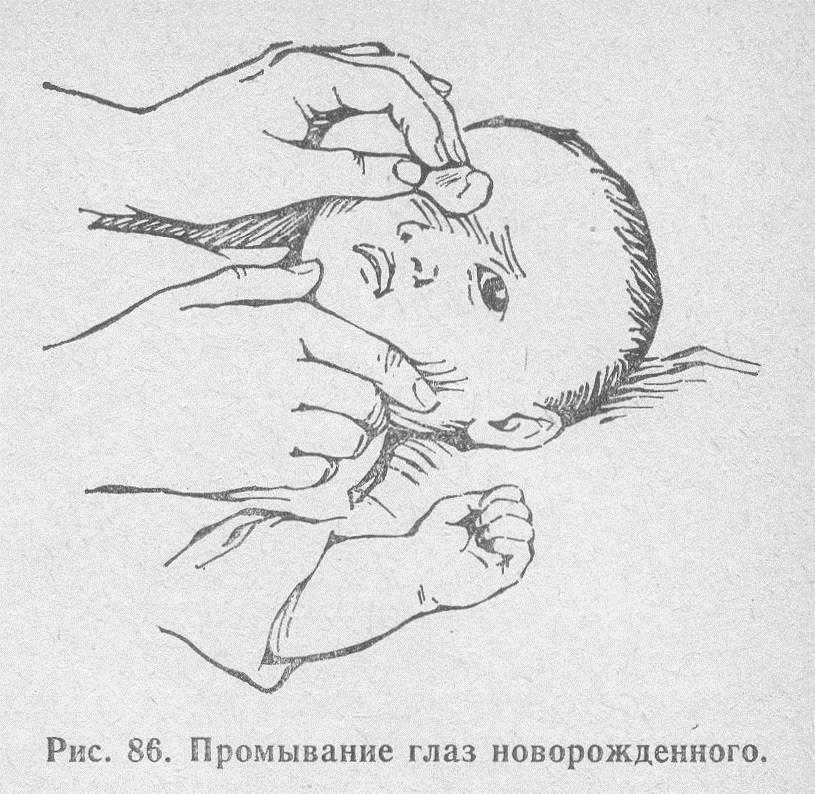 Утренняя гигиена новорожденного ребенка: уход за глазами, носом и ушами
