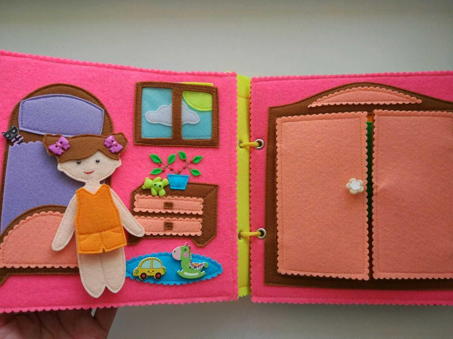 Как сделать развивающие книжки малышки своими руками из фетра, ткани, мягкую, из бумаги? развивающая книжка для самых маленьких своими руками, для детей от 1 года: пошаговая инструкция