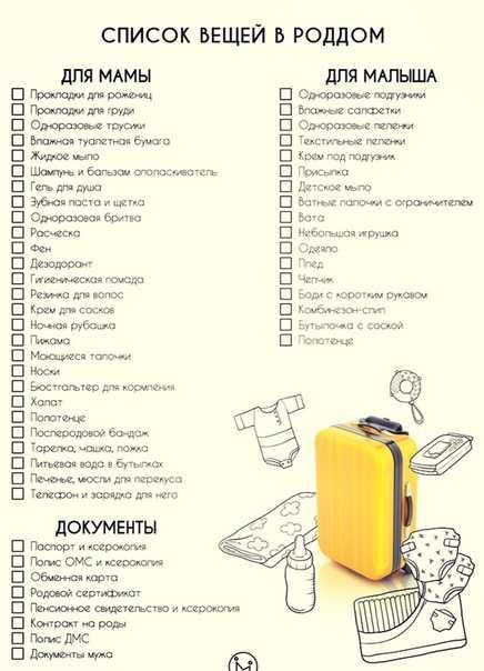 Что взять с собой в роддом: обновленный список вещей