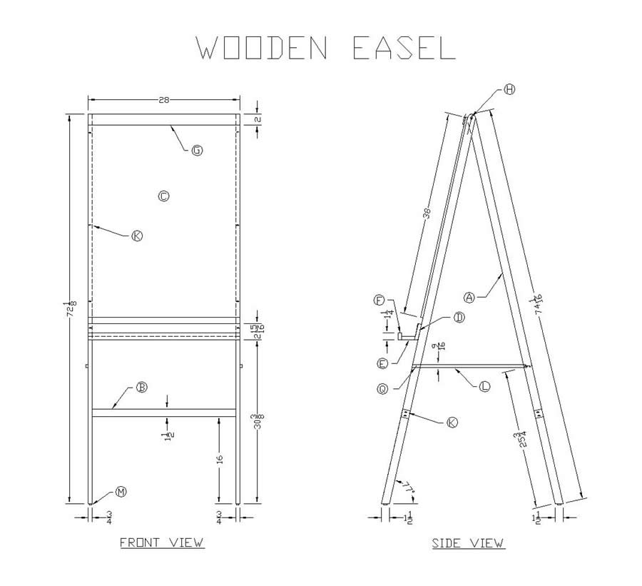 Как сделать мольберт своими руками: чертежи и размеры, инструменты и материалы, пошаговая инструкция, изготовление мини-конструкции