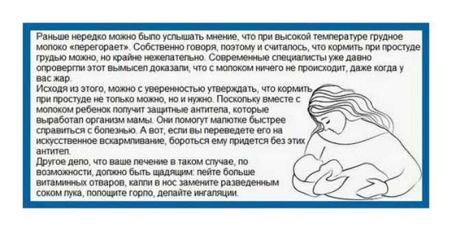Температура у кормящей мамы: что делать и можно ли кормить
