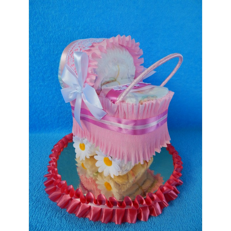 Торт из памперсов для девочки: пошаговый мастер-класс по созданию торта из памперсов. обзоры нестандартных вариантов с фото и видео