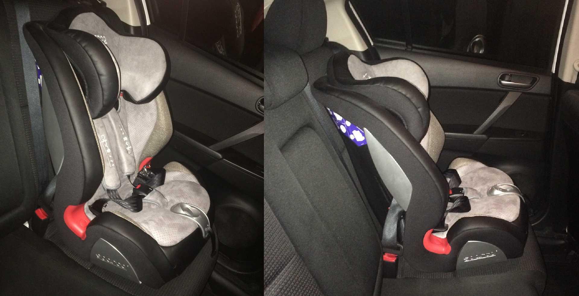 Автокресло детское sparco 0+/1/2 серый f2000k gy