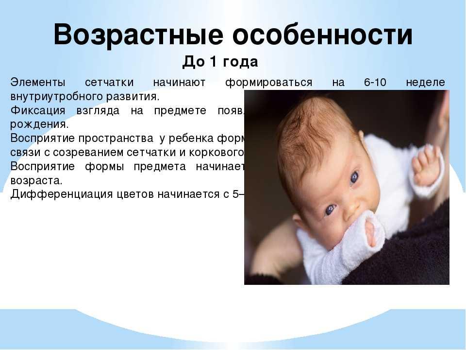 Зрение новорожденных и грудничков: этапы развития глаз по месяцам, возможные проблемы, рекомендации