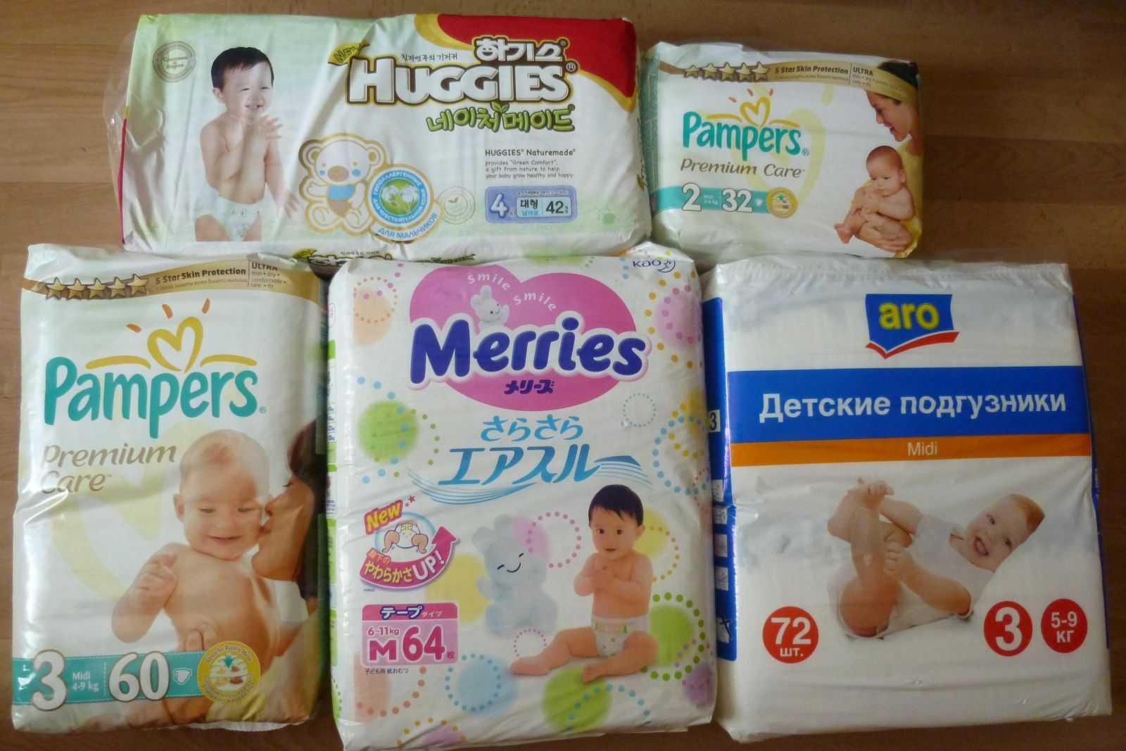 Рейтинг 5 подгузников для новорожденных