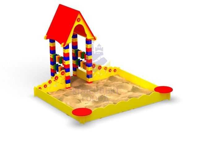 Детские песочницы (58 фото): сборная с горкой для площадок, цветок и черепаха, красивая большая песочница-краб и другие модели для детей