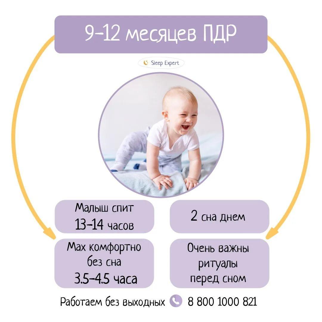 Распорядок дня ребенка в 8 месяцев