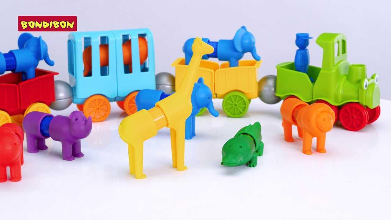 Магнитный конструктор smartmax: основные наборы от bondibon - животные, мой первый сафари-зоопарк