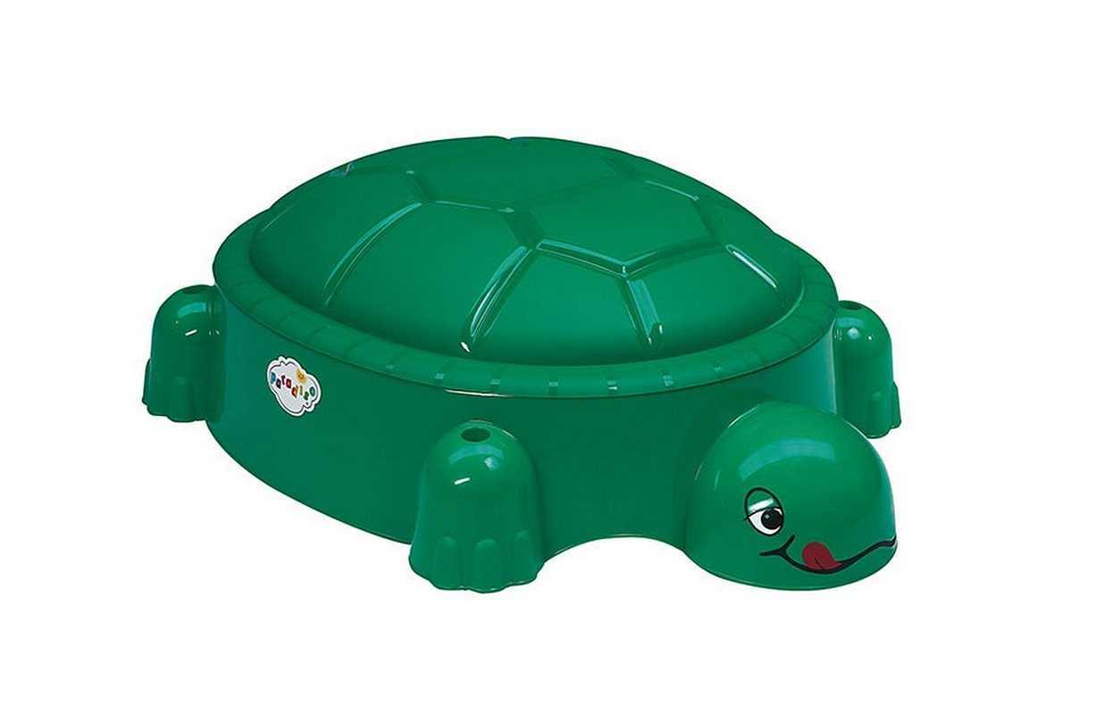 Пластиковые песочницы с крышкой: модели для дачи в виде бегемота, ракушки, слоника и черепахи, бабочки и другие пластмассовые варианты
