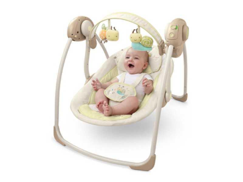 Качели для новорожденных: модели шезлонгов и электрокачелей