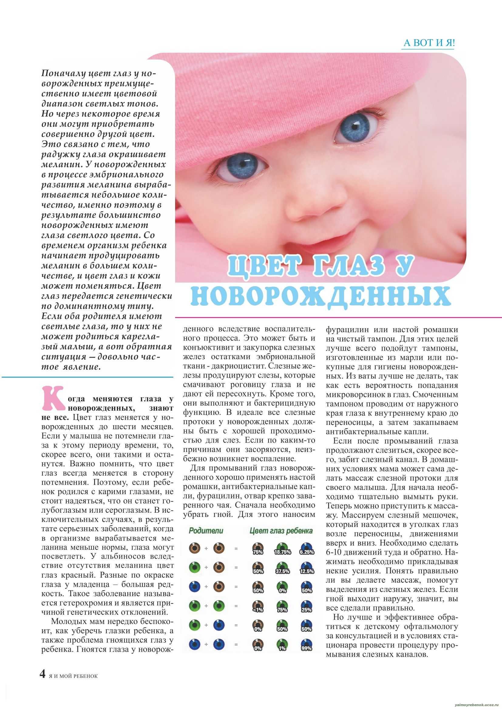 Когда меняются глаза у новорожденного, каким будет цвет глаз? научные данные о том, когда меняются глаза у новорожденных - автор екатерина данилова - журнал женское мнение