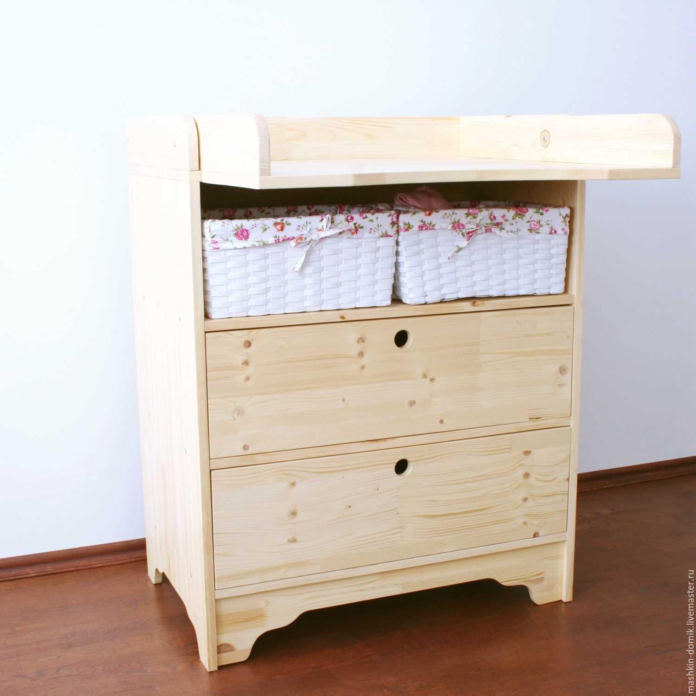 Стол для пеленания: размеры складных столиков для ребенка