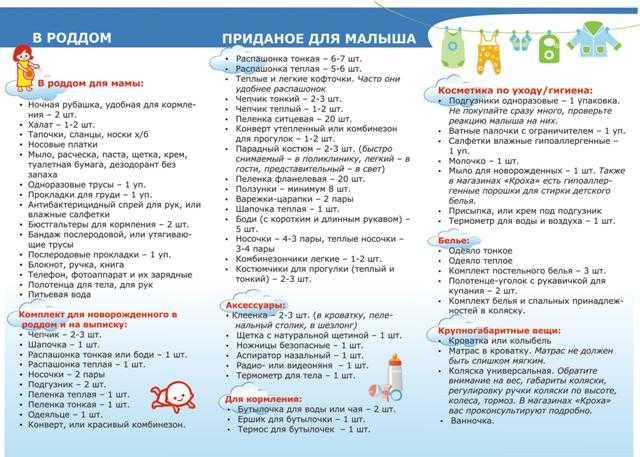 Покупки для новорожденного. список необходимых, вещи в первые месяцы жизни, на время зимой, осенью, лето, весна