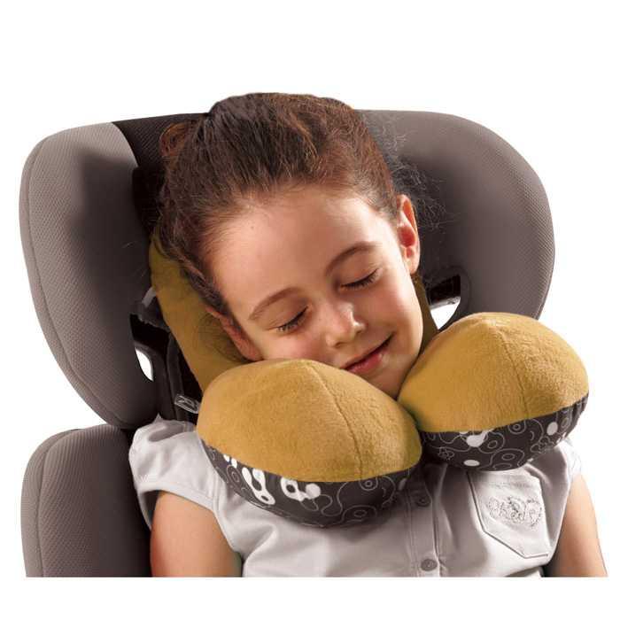 Детская подушка для автокресла: подголовник для ребенка в машину, ортопедический вариант для автомобильного кресла