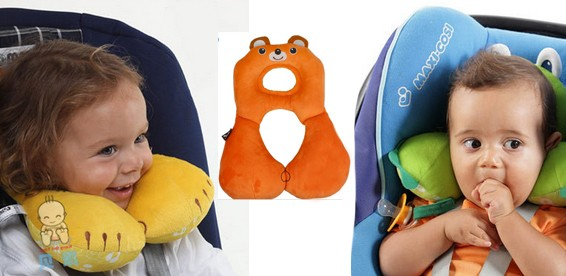 Разновидности держателей головы ребенка в автокресле