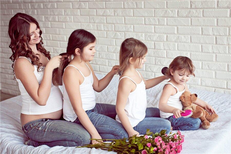 Пять плюсов быть многодетной мамой – семья и дети – домашний
