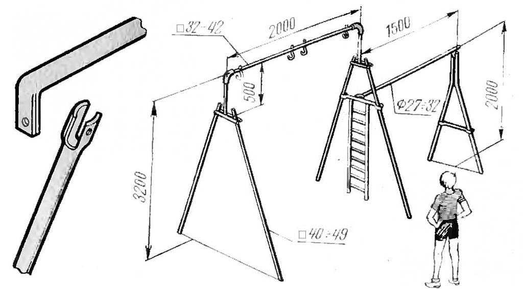 Как сделать качели своими руками из металла: чертежи, фото и инструкция от ivd.ru