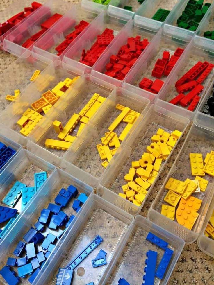 Как сортировать и хранить детали конструктора lego - 10 рекомендаций