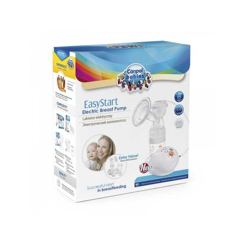 Молокоотсосы canpol babies: электрический easystart, ручная модель с принадлежностями, отзывы