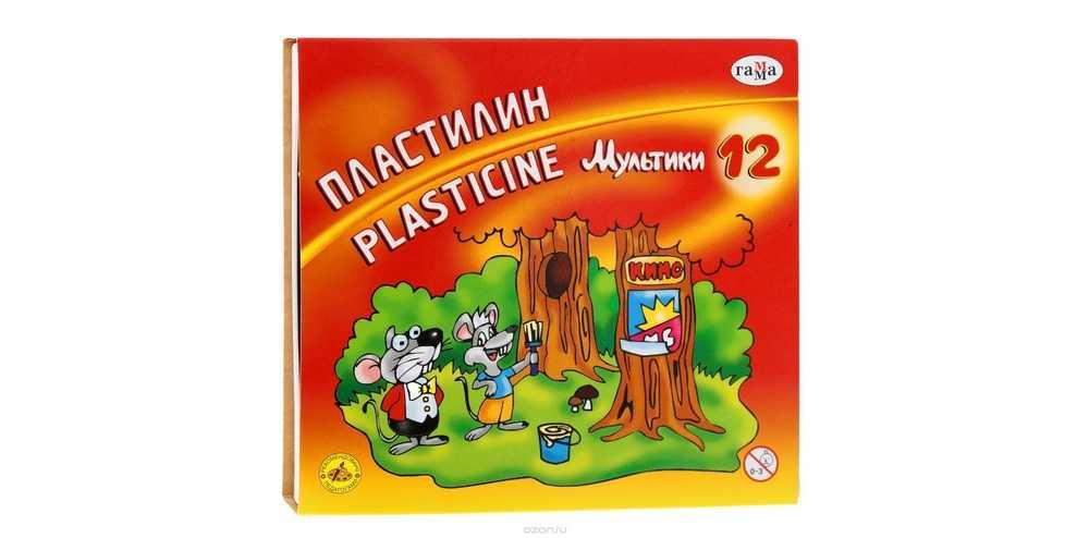 Пластилин «гамма»: мягкие изделия для детей на 12 и 18 цветов