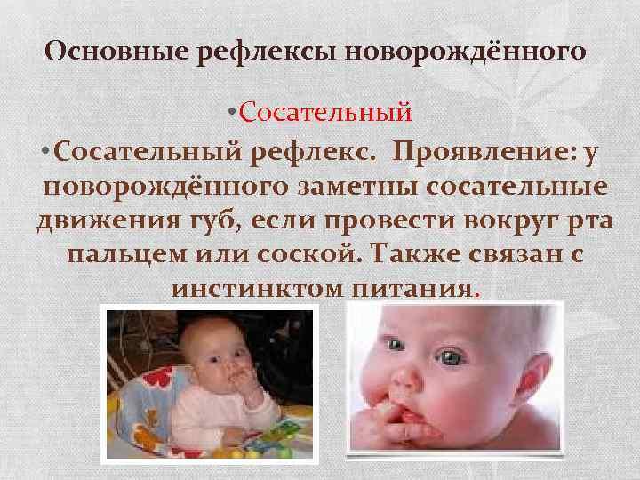 Сосательный рефлекс у новорожденных: до какого возраста присутствует и симптомы отсутствия инстинкта