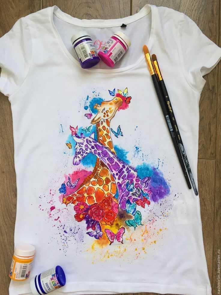 Применение обычных акриловых красок для рисования по тканям