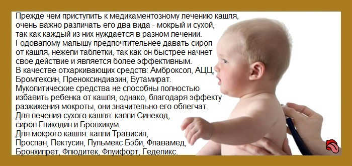 Сухой кашель у грудничка, чем лечить сухой кашель у младенца?