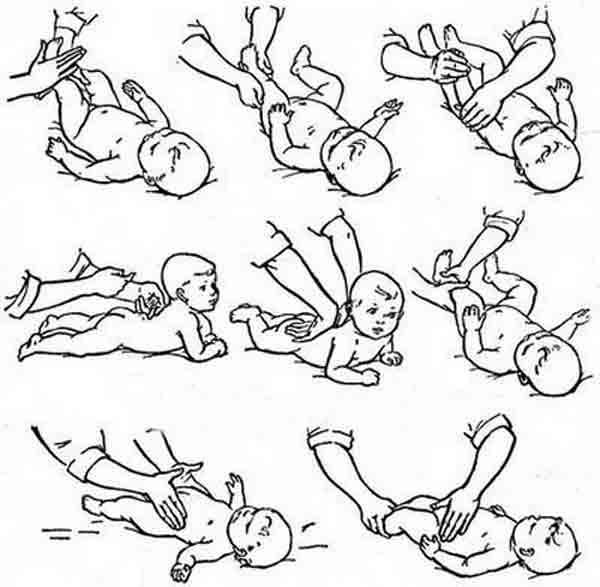 Гимнастика для грудничков: комплекс упражнений по месяцам