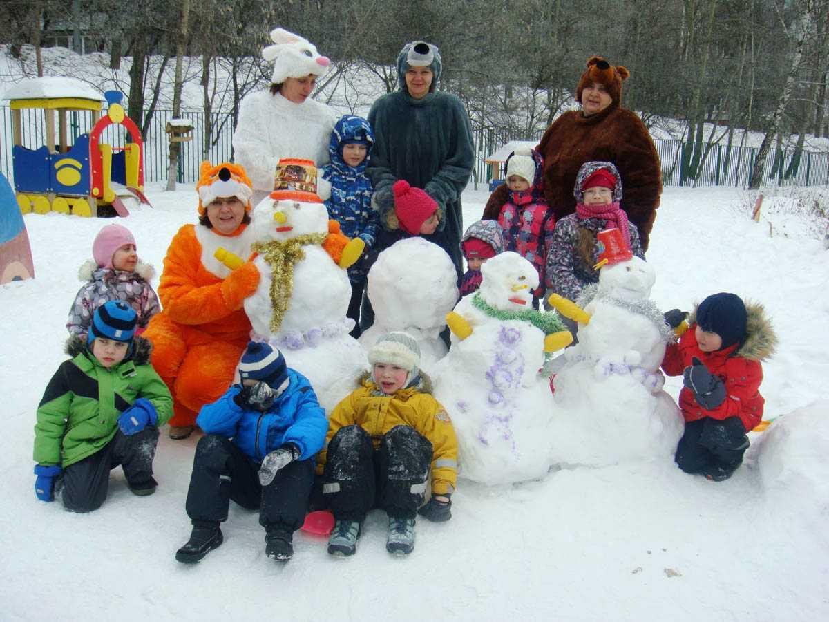 Зимние игры и забавы для детей