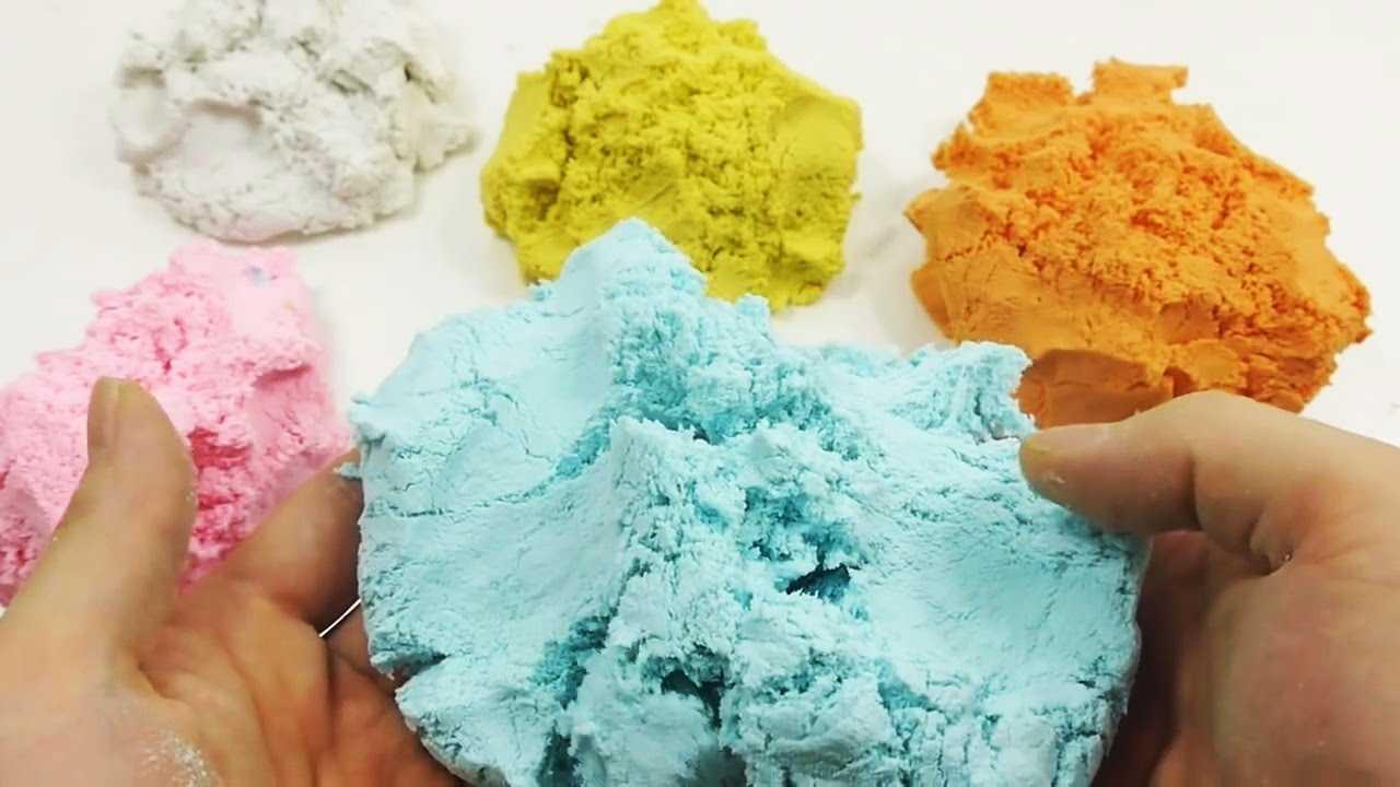 Кинетический песок своими руками в домашних условиях. рецепты, как сделать без крахмала, песка, соды и с ними. что можно слепить