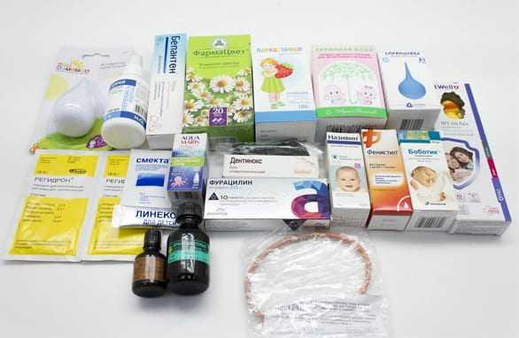 Состав аптечки для новорожденного ~