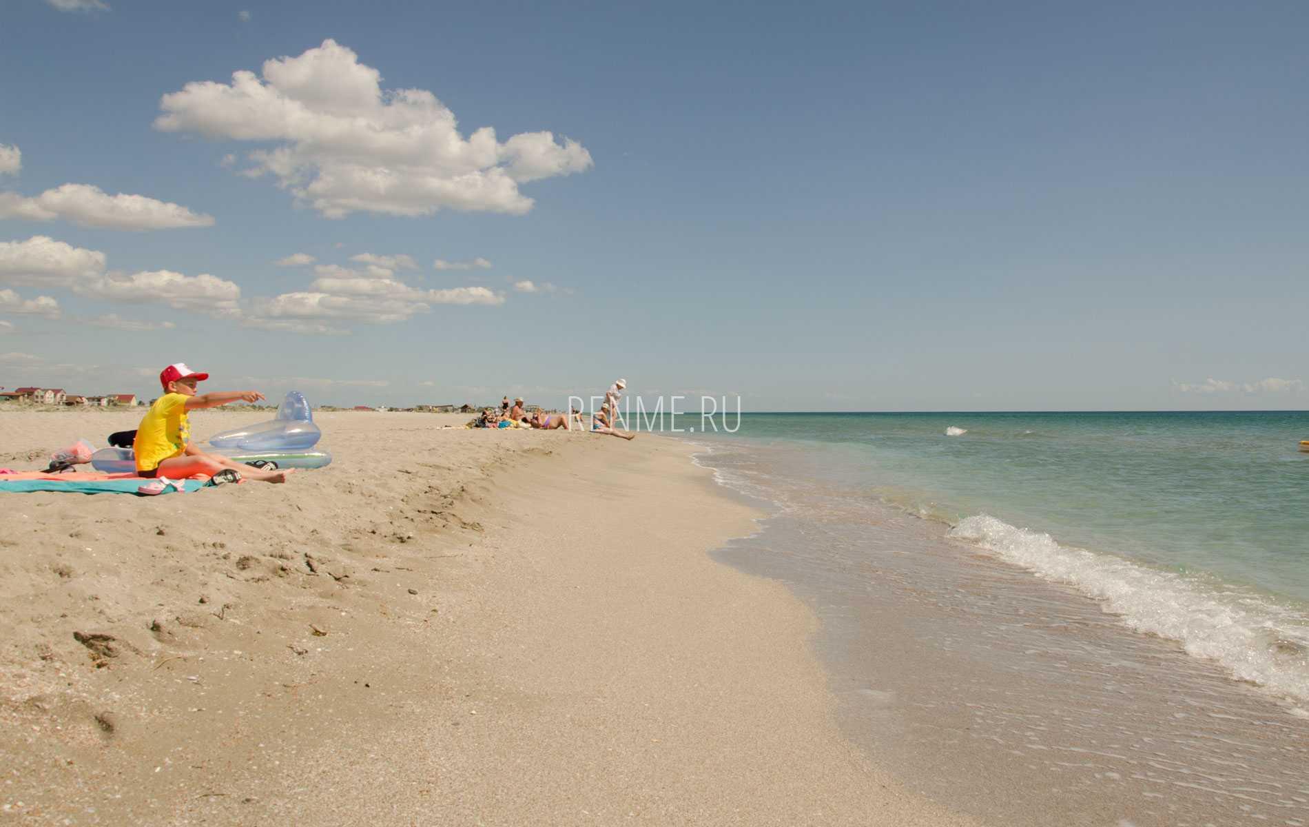 Песчаные пляжи крыма для отдыха с детьми: лучшие песочные пляжи