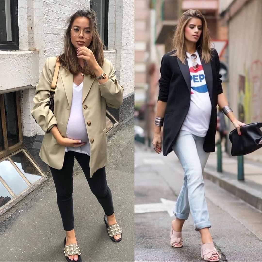 Мода для беременных: фото комплектов для всех сезонов