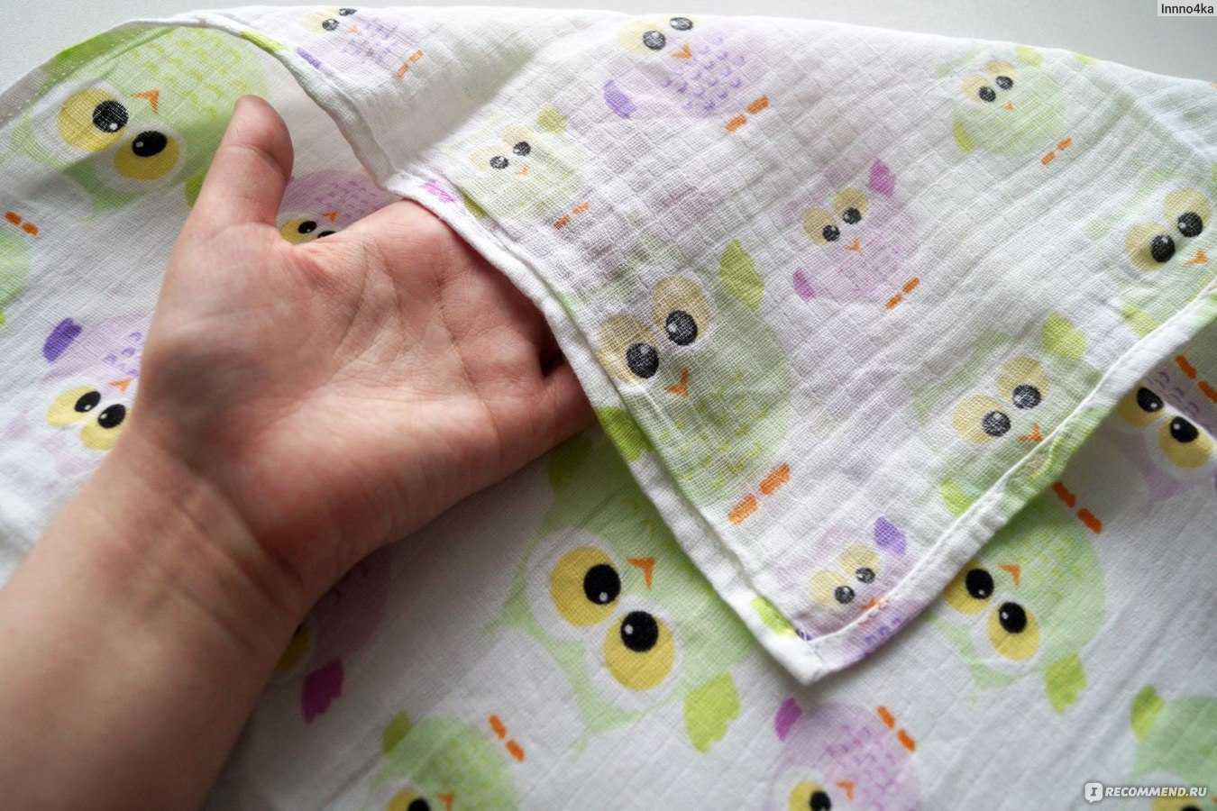 Как выбрать пеленку для новорожденного. виды тканей