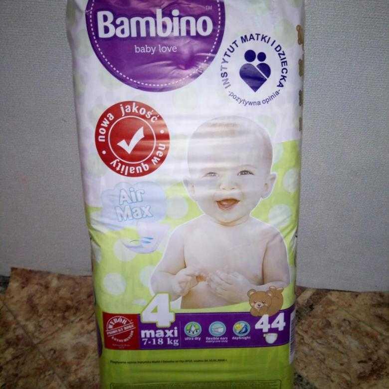 Описание подгузников bambino