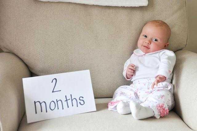 Ребенку 2 месяца, развитие ребенка в 2 месяца, занятия с ребенком
