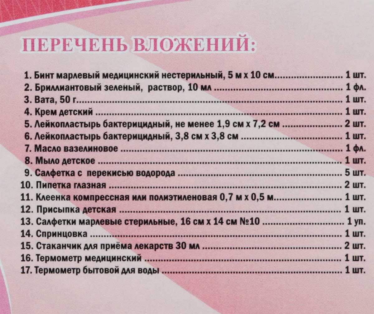 Лекарства для новорожденных список