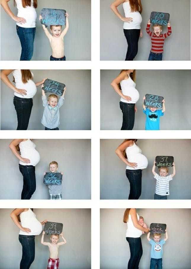 Как сделать фотоколлаж беременности