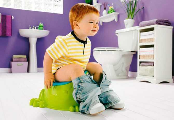 Отучаемся от подгузников – как научить ребенка какать в горшок?