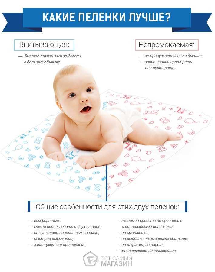 Какие пеленки необходимы для новорожденного: выбор материала и разновидности