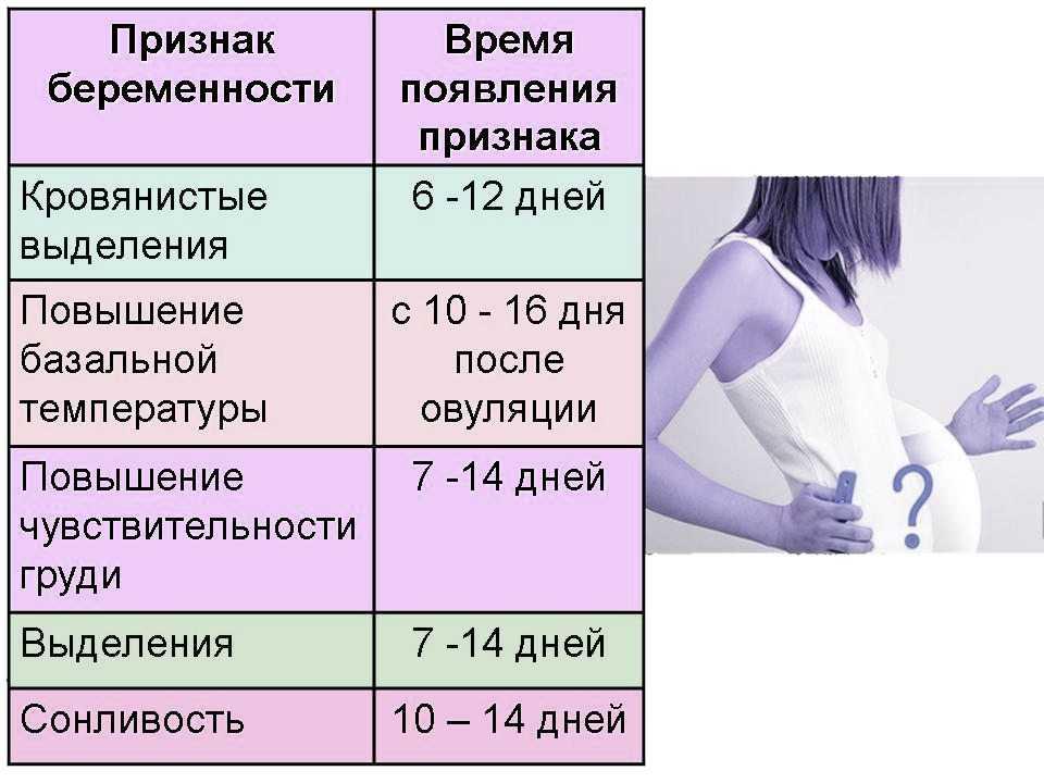 Первые признаки беременности на ранних сроках - полный список вероятных симптомов беременности