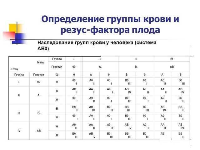 Анализ крови на определение группы и резус фактора