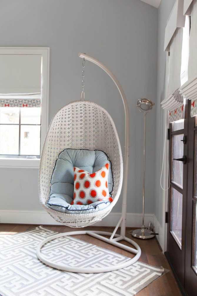 Современные качели в квартире: 60 фото в интерьере, подвесные, детские качели