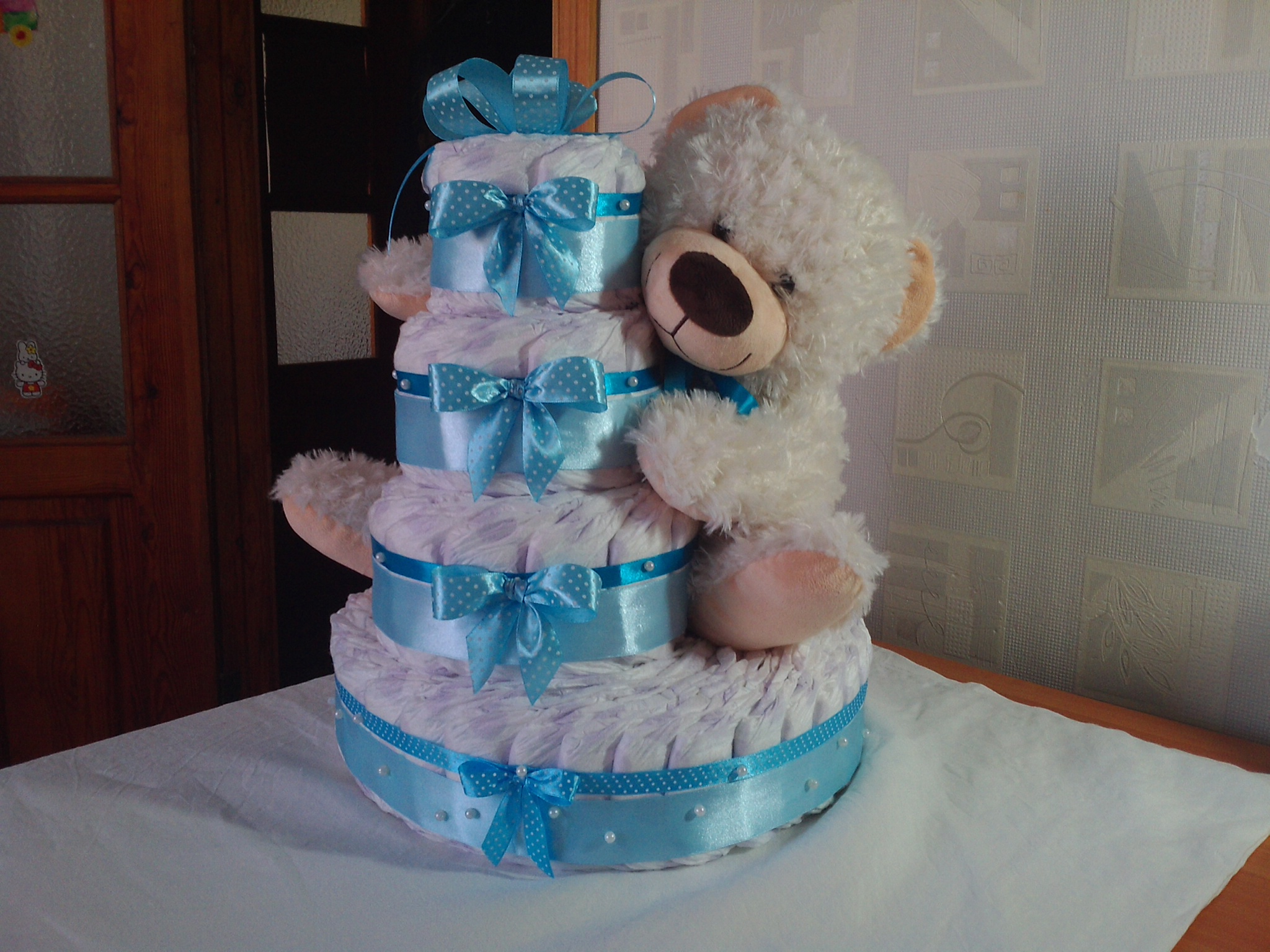 Торт из памперсов своими руками (поделки для девочки или мальчика)
