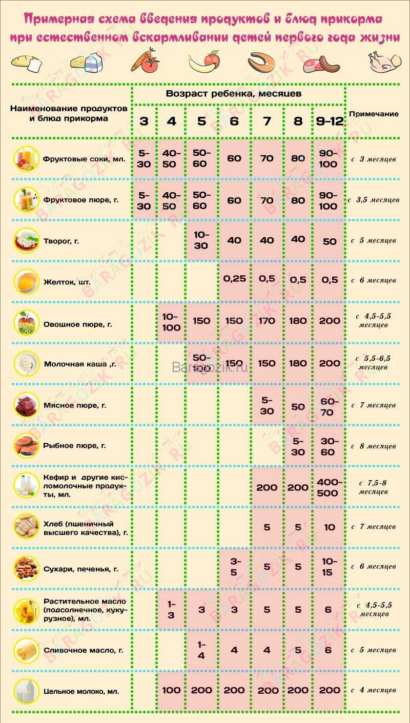 Прикорм для недоношенных детей на искусственном и грудном вскармливании по месяцам