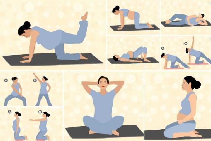 Гимнастика для беременных дома в 1 - 3 триместр