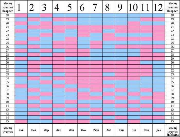 Календарь зачатия мальчика на 2020 год рассчитать