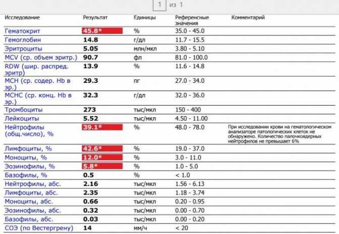 Показатели крови при глистах у детей - терапевт воробьёв