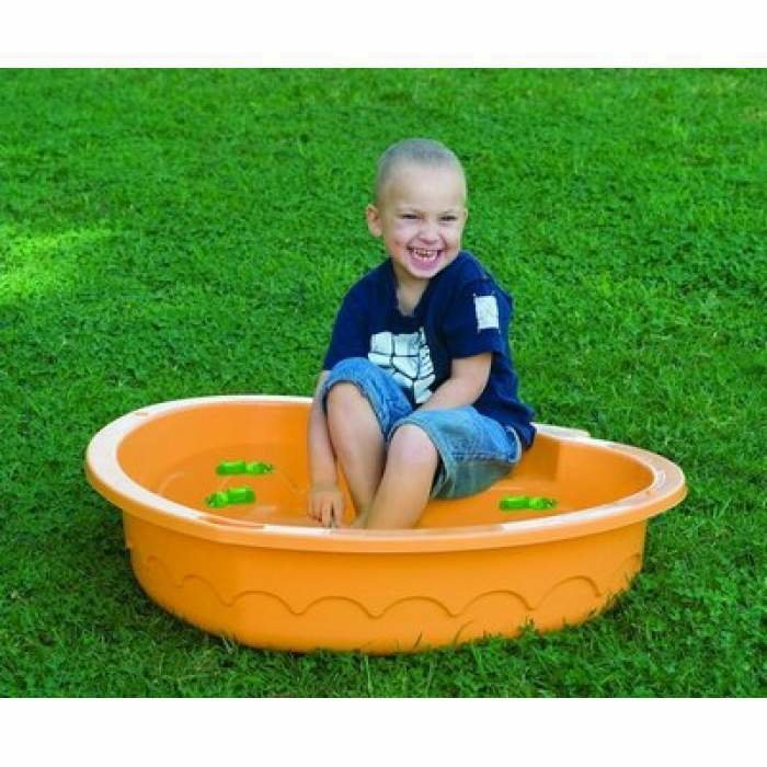 Песочница-бассейн: с крышкой из пластика, «божья коровка» и «крыло бабочки», с горкой, из надувного бассейна и другие варианты для детей